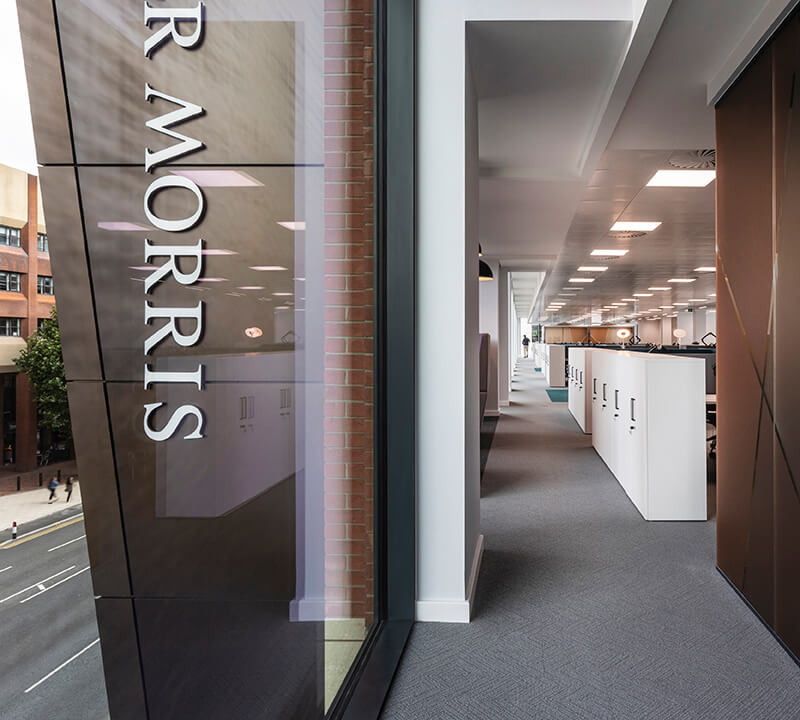 View from Walker Morris offices onto Wellington Street, Leeds