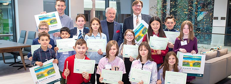 Children from the region's primary schools were presented with prizes for their artistic talents by two of the Competition's judges, renowned Yorkshire artist, Ashley Jackson, and David Smedley, Chairman of the Partners at Walker Morris.