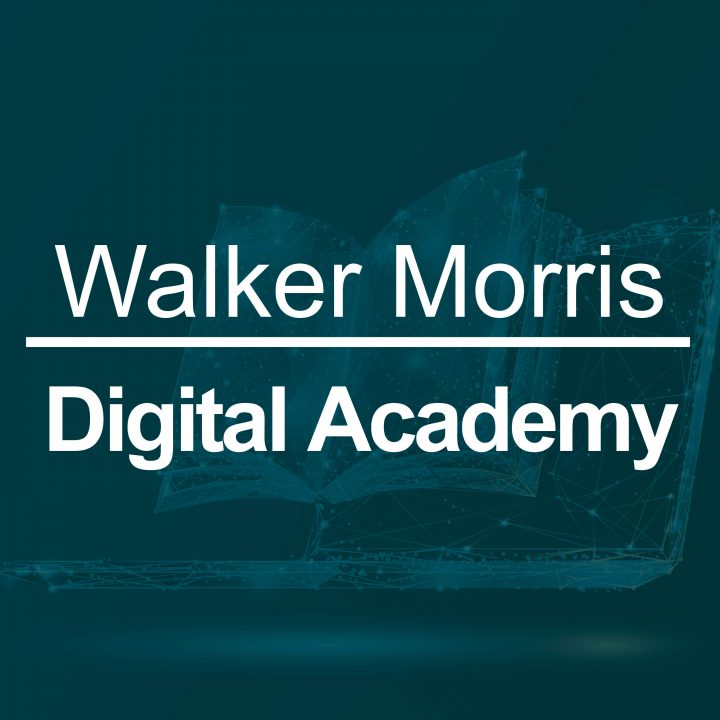 Walker Morris Digital Academy Header Image - an open book with a dark green overlay