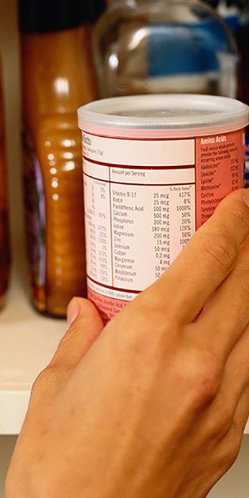 Nutrition Label on Canned Food