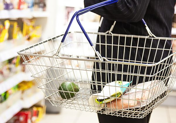 woman with shopping basket