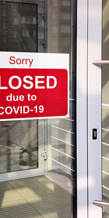 Business center closed due to COVID-19