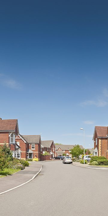 Houses on newly built estate