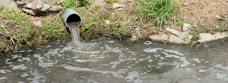 Storm-drain-outflow